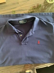 Man's navy polo shirt - L by Polo Ralph Lauren - excellent condition