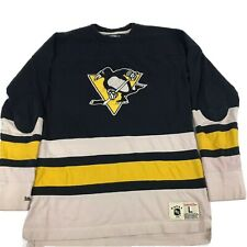 MITCHELL & NESS VIntage Hockey Pittsburgh Penguins Pullover Shirt Mens Large
