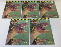 dealer's lot of five LOST WORLD JURASSIC PARK PAINT WITH WATERCOLOR books