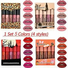 5 PCs/Set Women Matte Mini Lip Gloss Waterproof Cosmetic Makeup Liquid Lipstick