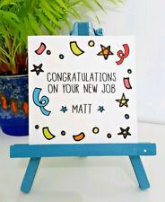 PERSONALISED Handmade Good Luck Congratulations New Job Card