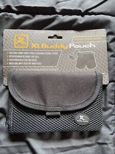 """Running Buddy Pouch Black Magnetic Slim Conceal Waist Pouch 6"""" x 4"""" New 5859"""