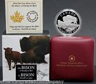 """2014 $20 Canadian """"The Bison:Family At Rest"""" Silver Coin 1oz Proof in OGP"""