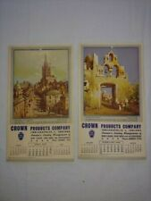1948 Vintage Calendar/Advertising Pamphlet Crown Products Company