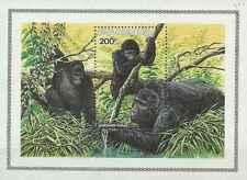Timbre Animaux Singes Gorilles Rwanda BF100 ** lot 13311