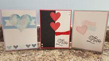 New listing 3 Handmade Greeting Cards, Valentines, Anniversary, Love