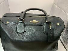 Coach Women's Satchel Black Leather