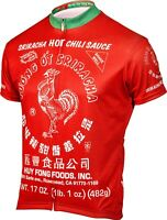 Sriracha Men's Full Zip Cycling Jersey NEW ⚡All Sizes ⚡FREE Shipping and Returns