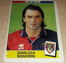 FIGURINA CALCIATORI PANINI 1994/95 GENOA SIGNORINI ALBUM 1995