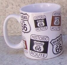 Coffee Mug Explore America Route 66 Road Signs NEW 11 ounce cup with gift box