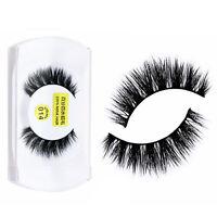 100% Echt Mink Natur lange Falsche Wimpern Künstliche-Augen Wimpern 3D Eyel W5G0