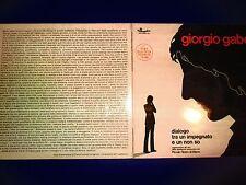 Giorgio Gaber – Dialogo Tra Un Impegnato E Un Non So LP Year 1972 EX-/EX+