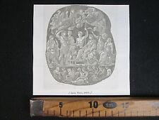 1845 CAMMEO AGATA ONICE OREFICERIA ANTICA INCISIONE STAMPA D352