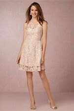 "NWOT$300 Yoana Baraschi Anthropologie "" Piper"" Dress lace embroidered, Sand 10 M"