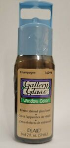 Gallery Stained Glass Window Color Plaid 2 Oz Paint Sealed 16094 Champagne