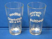 New Charlotte's got a lot #cltbeer Set of 2 16oz. Pint Craft Beer Glasses NC