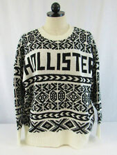 New Hollister Women's Black and White Long Sleeve Sweater Size Small