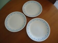 3 corelle corning ware morning blue entree plates