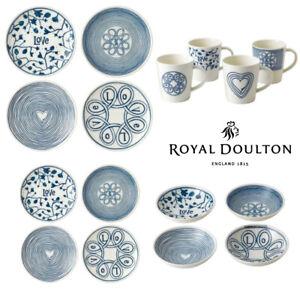 Royal Doulton ED Ellen DeGeneres 16pc Blue Love Dinner Bowl Mug Plate  Set of 16
