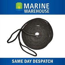 Mooring Rope Kit – 10mm X 9M Black Double Braid Dock Line W/ Loops 106339