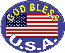 American Flag With God Bless America Sticker SP-20