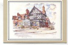 Port Sunlight Post Office Wirral Cheshire unused 1986 art postcard