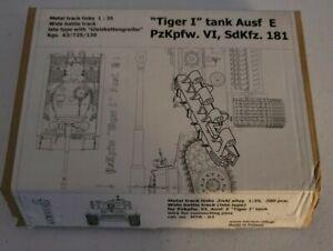 "1:35 Karaya ""Tiger I"" Tank Ausf E PzKpfw VI SdKfz 181 Metal Track Links"
