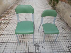 2 sedie da scuola materna media  vintage per banco in ottime condizioni