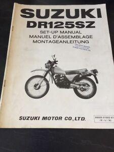 Suzuki DR125 SZ Set-Up Assembly Manual