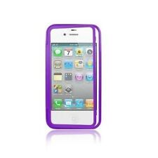 Custodia WALLET Cover VIOLA FRONTE TRASPARENTE per Apple iPhone 4 4S 4G