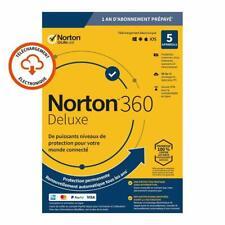 Norton 360 Deluxe 2021 5 App 5 PC 1 an PC 2020 PC MAC Internet Security FR EU