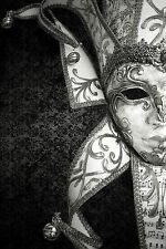 STUNNING Venetian Carnival Party Mask Canvas #8 A1 Italian Wall Hanging Picture