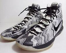 $180 Nike iD Kd Kevin Durant Basketball 2013 Shoes Black White High Mens Sz 14