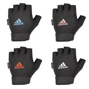 Adidas Adjustable Essential Gloves Weight Lifting Fitness Training Gym Workout