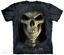 NEW BIG FACE DEATH The Mountain T Shirt Gothic Horror Grim Reaper HALLOWEEN