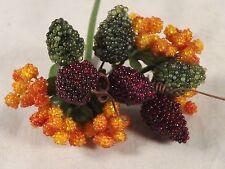 Stamens Millinery Beaded Berries Della Robbia Floral Wedding Dolls Flower Crafts