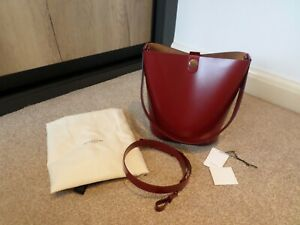 Sophie Hulme Large Firebrick Red Leather Swing Bag BNWT