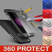 360 Ultra Thin Hybrid Shockproof Case +Tempered Glass For Apple iPhone Models