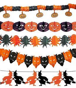 Halloween Garland Bunting Pumpkin Spider Demon Witch Party Decoration Accessory
