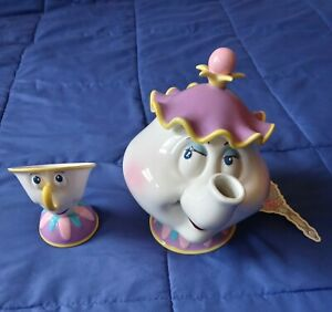 Disney's Beauty And The Beast Teapot And Musical Teacup