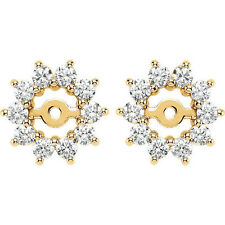 Diamond Earring Jackets In 14K Yellow Gold (5/8 ct. tw