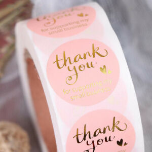 500 Pcs/Roll Thank You For Supporting My Small Business 1 Inch Stickers