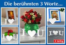 die berühmten 3Worte'I Love You' Dekoration Schriftzug Dekoartikel Herz Geschenk
