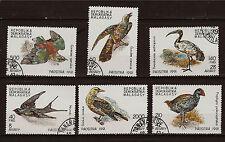 MADAGASCAR 6 sellos matasellados : pájaros sedentarios de l'ile 1M 246