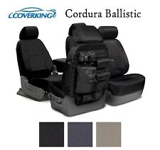 Coverking Custom Tactical Seat Covers Ballistic Canvas Front Rear - 3 Colors