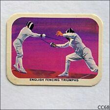 Vita-Brits VII Commonwealth Games Perth #12 Fencing 1962 Cereal Card (CC68)