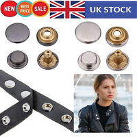 Press Studs Snap Fasteners Brass 12.5mm Popper Buttons for Sewing DIY Clothings