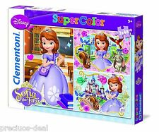 Clementoni 3X48 Pcs SuperColor Sofia The First Jigsaw Puzzle For Children 5+ yrs