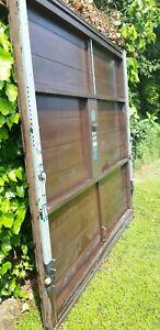 Portone garage basculante in legno massello - usato