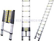 12.5'ft Portable Aluminum Telescopic Telescoping Ladder Extendable Extend Fold